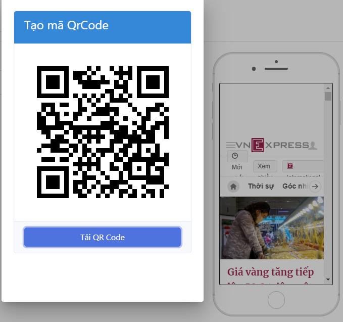 Xuất bản mã QR code